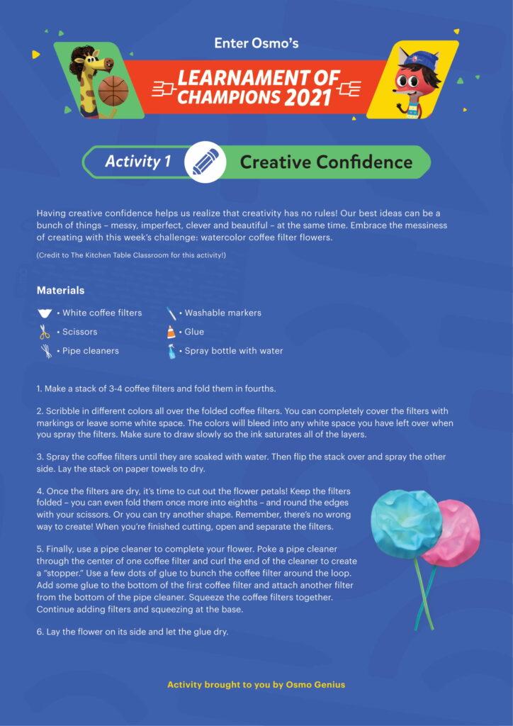 Creative Confidence Printable Activity 1