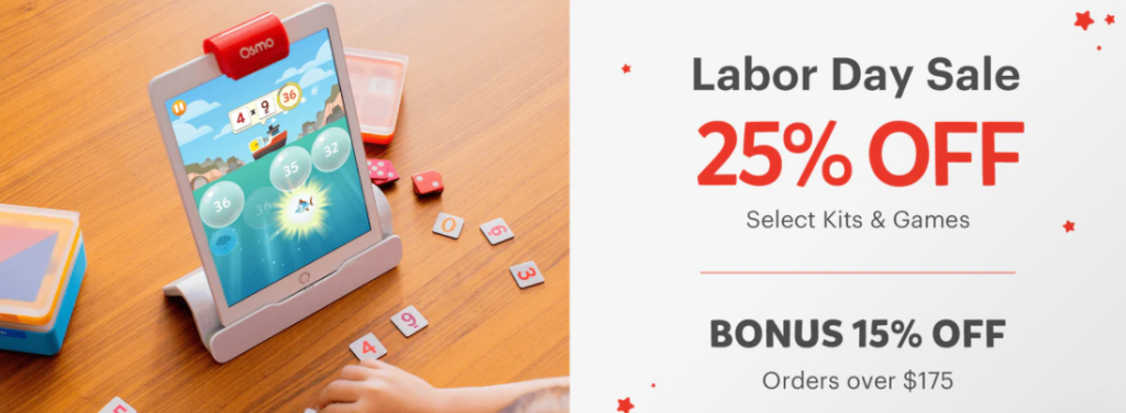 Labor Day Sale: Save 25% on Osmo Kits and Bundles